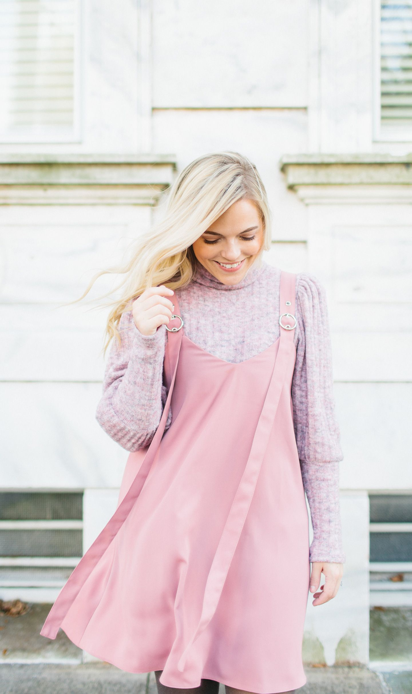 e2b46deeb Pink Jumper Dress