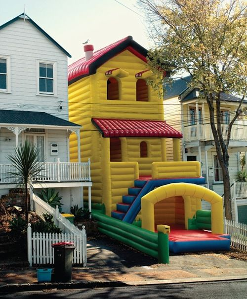 Cool street submission posted Houses vertical bounce house ...