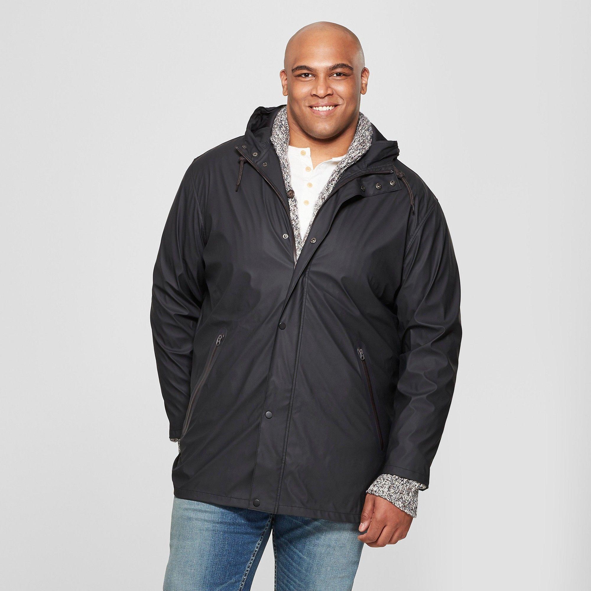 1caf15d00 Men's Big & Tall Rubber Rain Jacket - Goodfellow & Co Black 3XBT ...