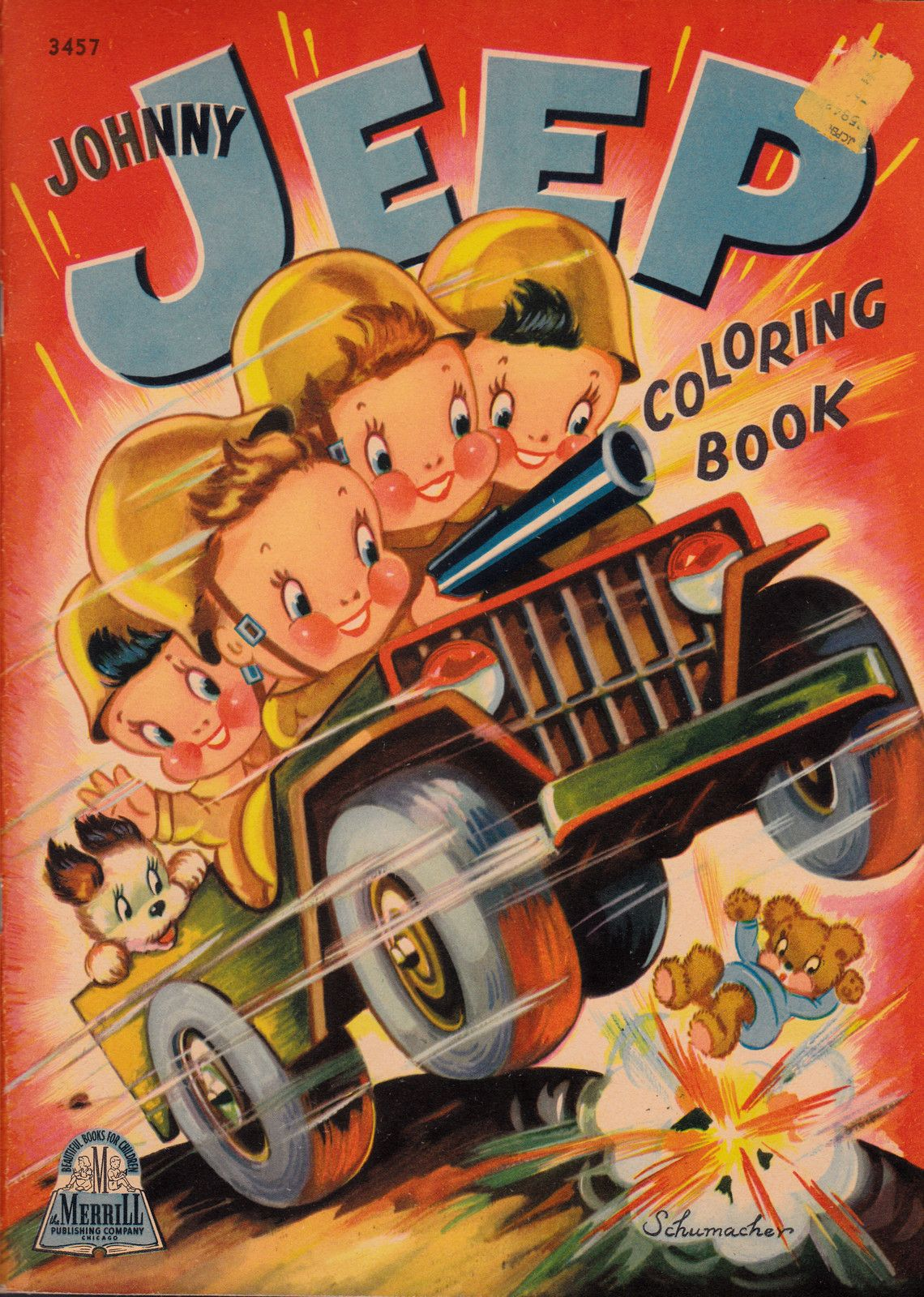 Merrill Publishing Company 1943 Vintage Coloring Books Coloring Books Painted Books