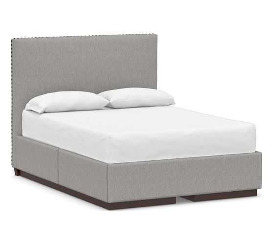 Raleigh Upholstered Square Tall Headboard and Side Storage