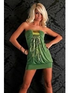 Misses/Plus Size  Magical Mini Dress with Sequins Green - $28.90 #onselz