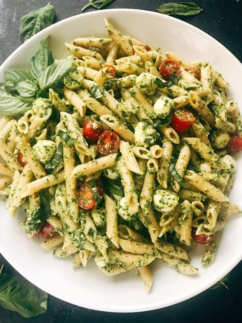 Pesto Caprese Penne Pasta - Three Olives Branch #food