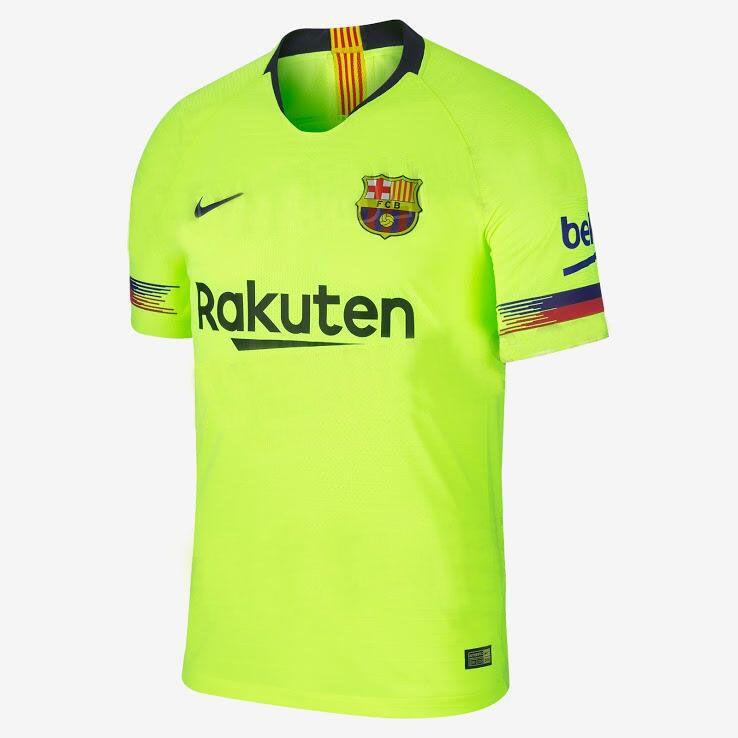 18-19  barcelona Away  green  soccerjersey  jersey  Shirt a2863767e
