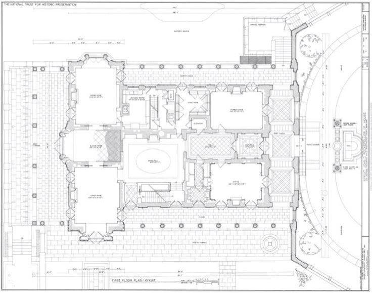 Kycuit 1st Floor Architectural Floor Plans Mansion Plans Vintage House Plans
