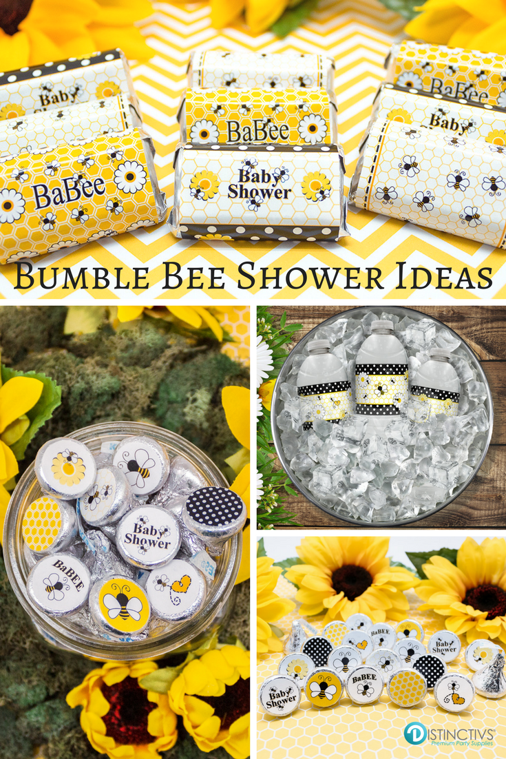 Bumble Bees Make For A Cute And Timeless Baby Shower Theme