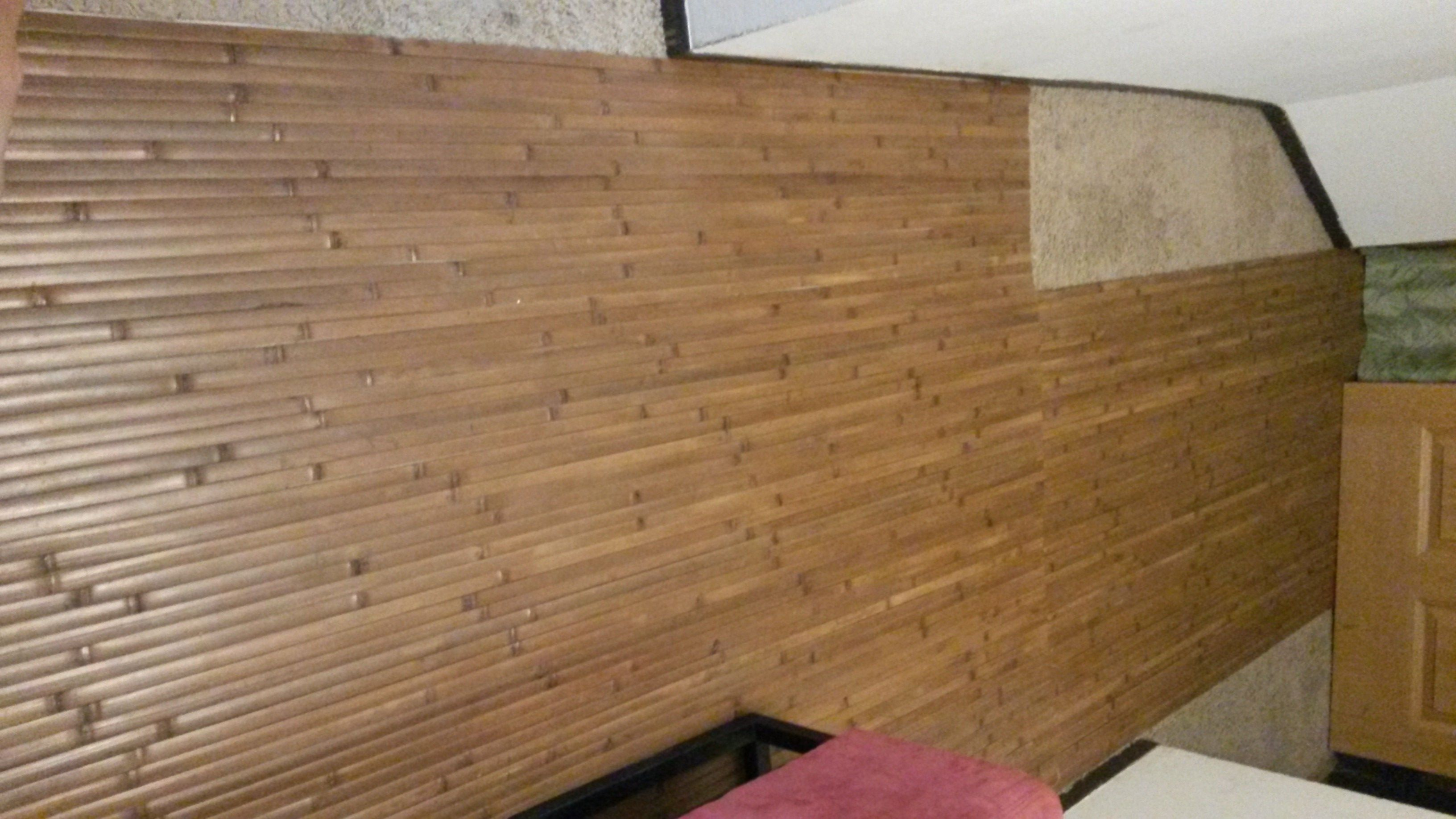 Bamboo Paneling Over Carpet Diy Home And Craft Ideas Flooring