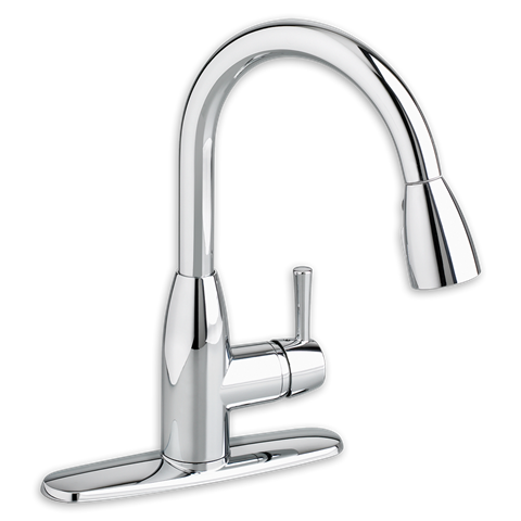 Fairbury 1-Handle Pull-Out High-Arc Kitchen Faucet- Stainless Steel (14 5/8 - $148 - Home Depot)