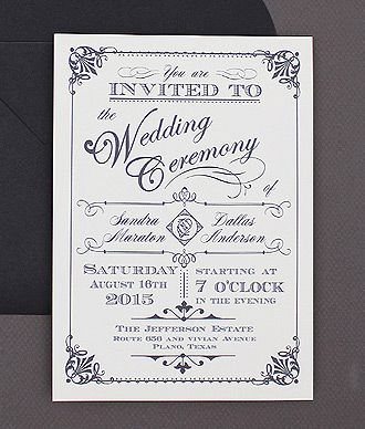 Best Seller - Ornate Vintage Type Invitation | Moose | Pinterest ...