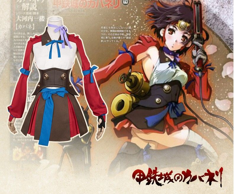New Arrival Kabaneri of the Iron Fortress Mumei fighting Cosplay Costume Suit