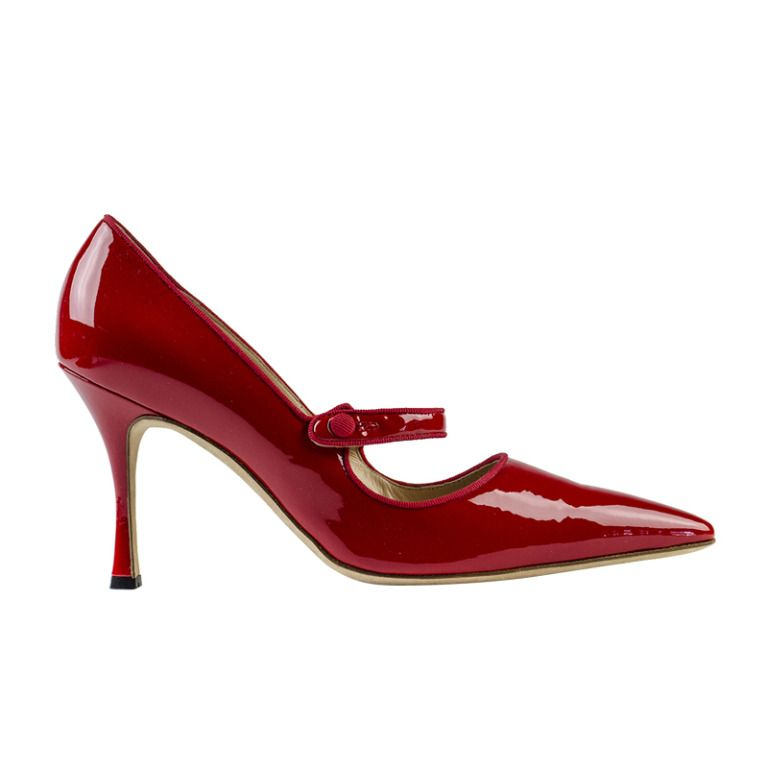 Manolo Blahnik 'Campari' Mary Jane Heels | From a collection of rare vintage shoes at http://www.1stdibs.com/fashion/clothing/shoes/