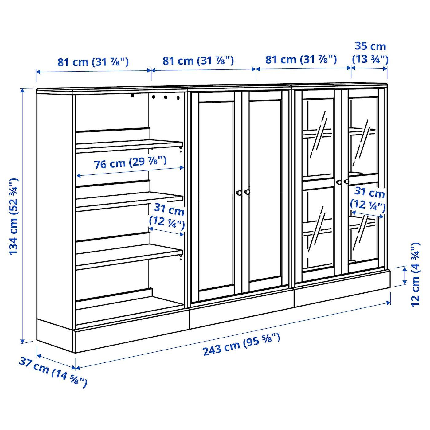 IKEA – HAVSTA Storage combination w/glass doors Dark brown
