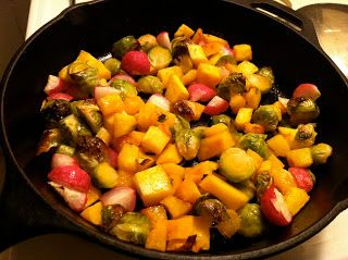 SALTY MAPLE ROASTED BRUSSELS SPROUTS, ACORN SQUASH, AND RADISHES | Big Mike's Eats. All Vegan, All Tasty, All The Time
