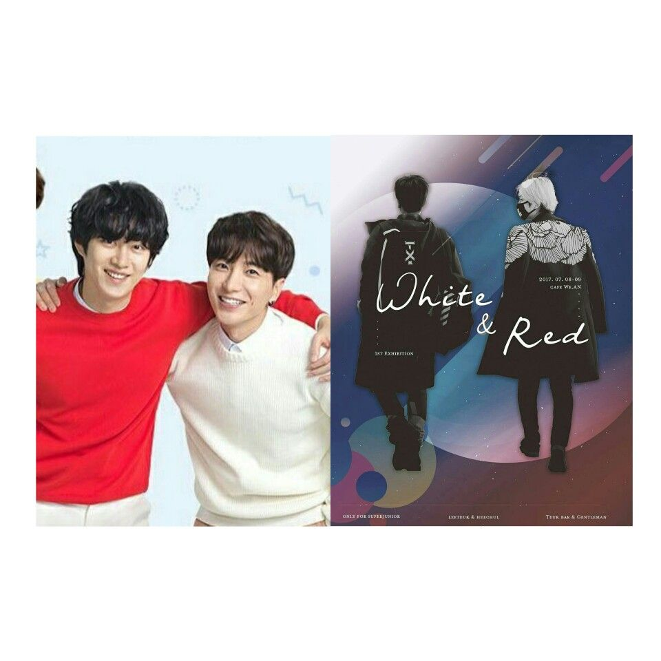 83line SJ #Leeteuk #Heechul Red and White 4ever