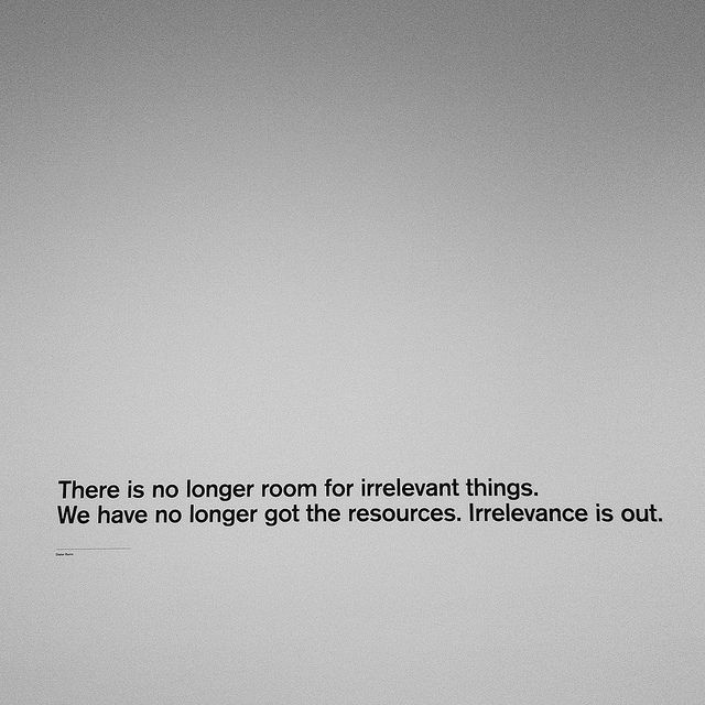 Dieter Rams on Irrelevance well said