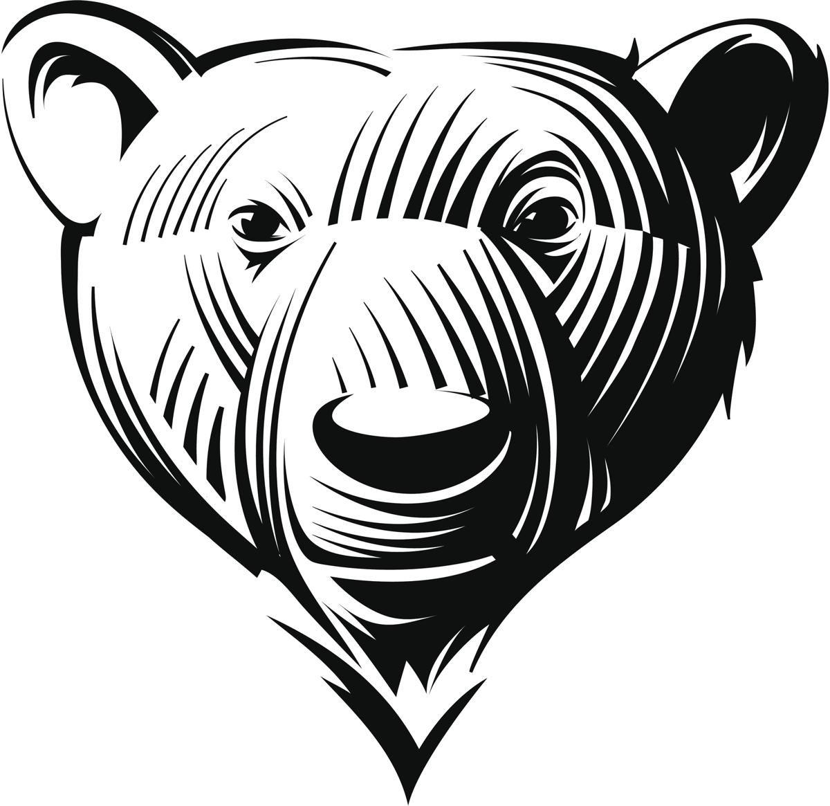Bear face tattoo pattern Bear tattoo designs, Bear