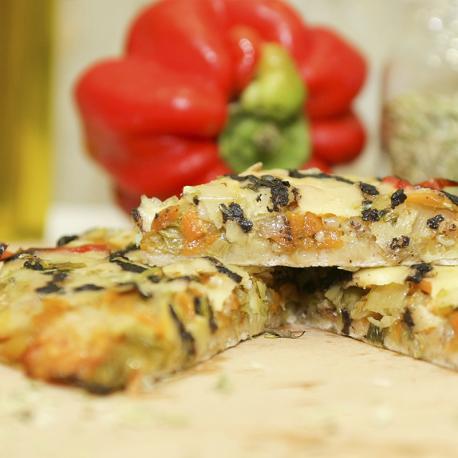 Pizza vegetal vegetariana BIO