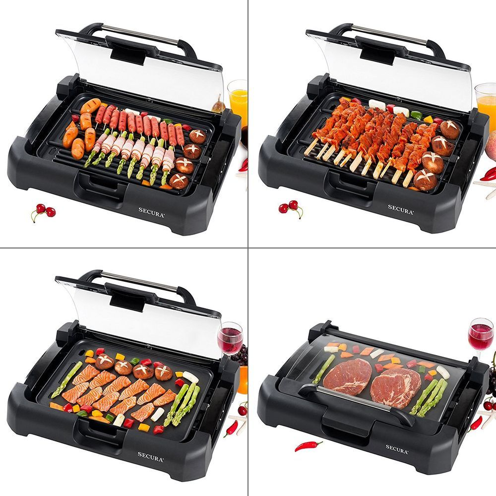 Electric Griddle Grill Large Indoor Outdoor Reversible Non Stick ...