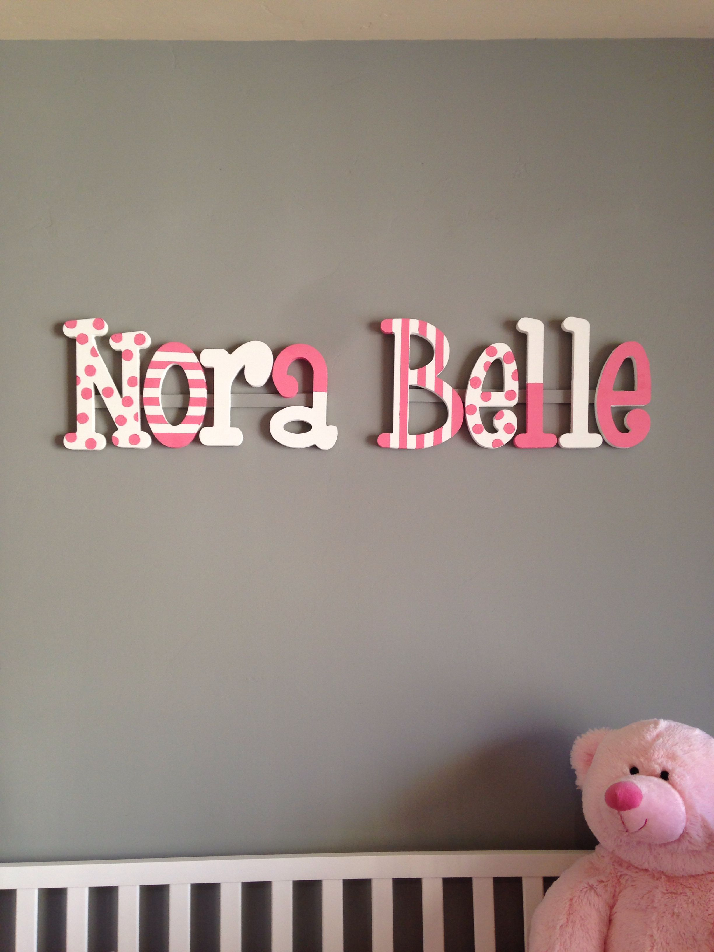diy painted wooden letters | nora's nursery | pinterest | wooden
