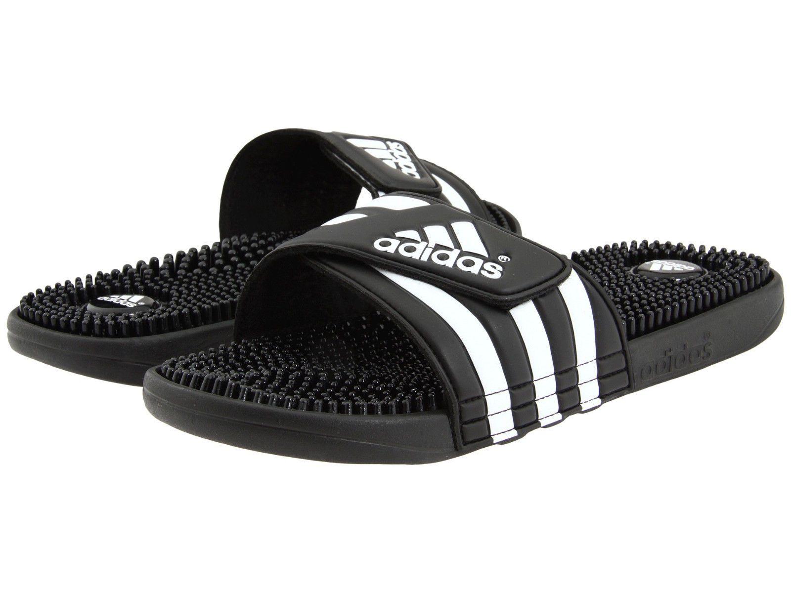 c55a4b21e42a Mens Adidas Adissage Black Slides Shower Sandals Athletic Sport 078260 Sz  6-15