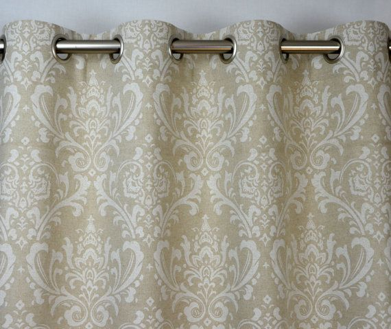 Cloud Light Gray Taupe Beige Ivory Natural Linen Traditions Damask