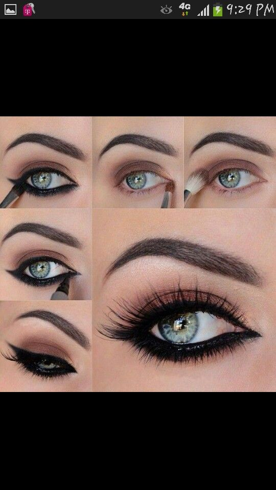 Find how to Black Smokey Eye making Step By Step Guidance with pictures for  Pakistan and Indian girls. smokey eye makeup step by step instructions for  you