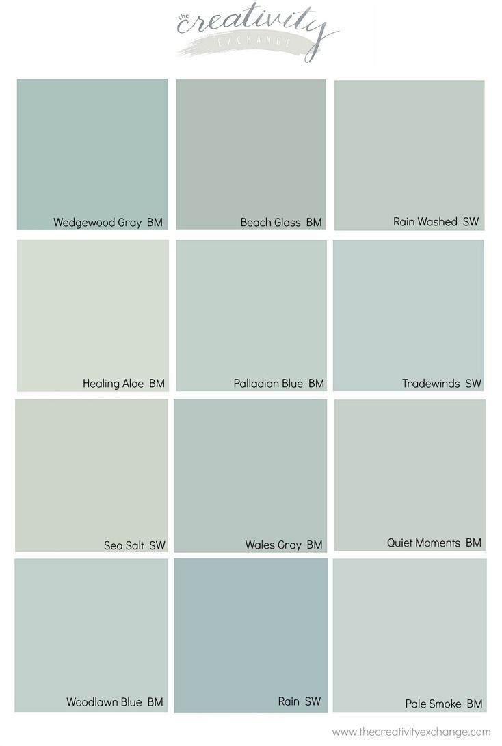 Beach Glass Benjamin Moore Quiet Moments : beach, glass, benjamin, moore, quiet, moments, Comparing, Popular, Blue,, Green, Paint, Colors., Colors, Home,, Bathroom, Colors,, Painting