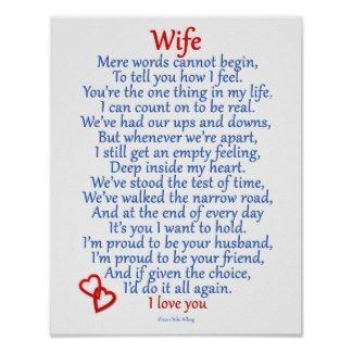 anniversary poems for husband from wife | Anniversary Poem Posters