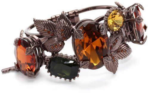"Betsey Johnson ""Iconic Autumn"" Crystal Gem and Leaves Hinged Bangle Bracelet Betsey Johnson,http://www.amazon.com/dp/B00885LZS0/ref=cm_sw_r_pi_dp_06dfsb0G77HXGRVH"