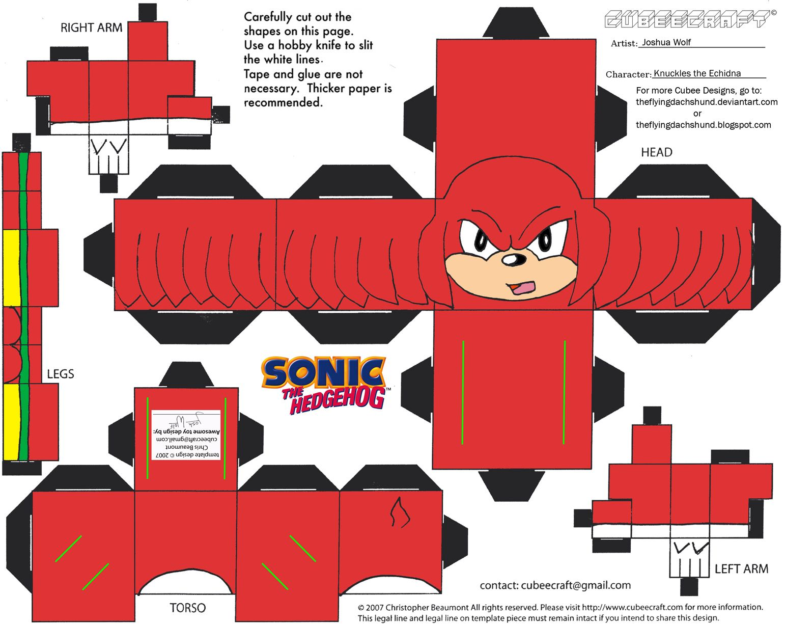 Vg7 Knuckles Cubee By Theflyingdachshund On Deviantart In 2021 Hedgehog Craft Paper Toys Marvel Cross Stitch