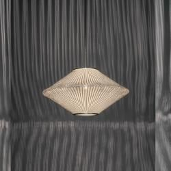 Arturo Alvarez Designer-Pendelleuchte Ura 1 Ø 50 cm in Grau Ura Ur104 grey Kabe…