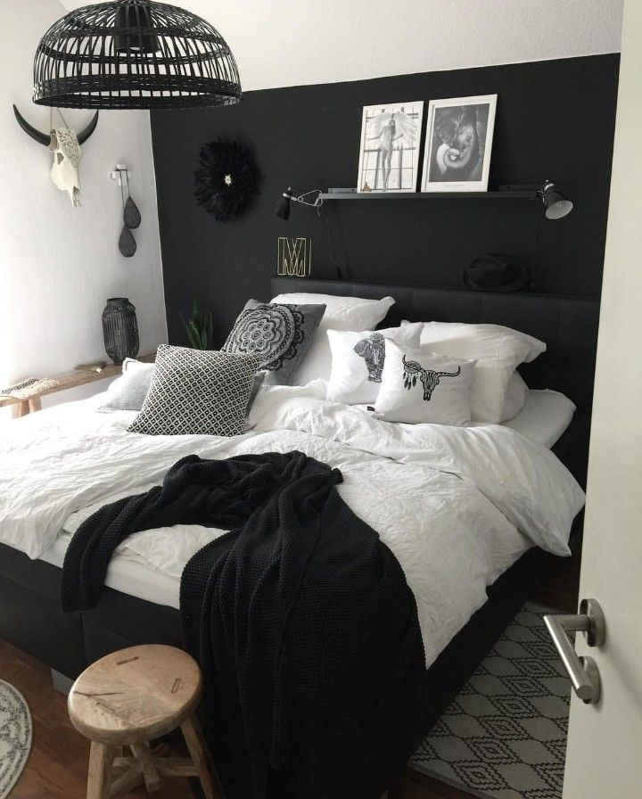 My Bedroom Goals In 2021 Gray Bedroom Black White Bedrooms Black White And Grey Bedroom Bedroom decoration black and white