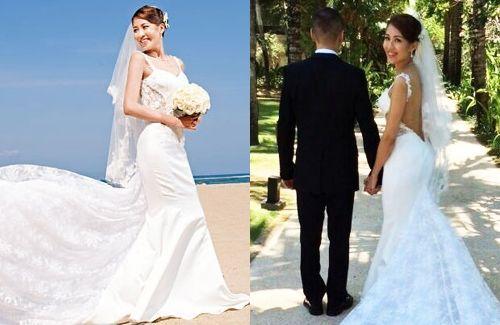 Sharon Chan married boyfriend of 10 years, businessman William Lui, in Bali on October 1, 2014.