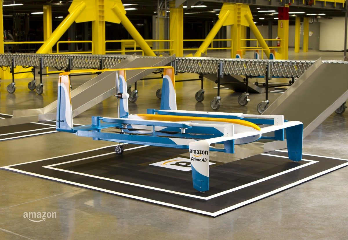Amazon Unveils New Drone Design Ahead Of Cyber Monday Drone
