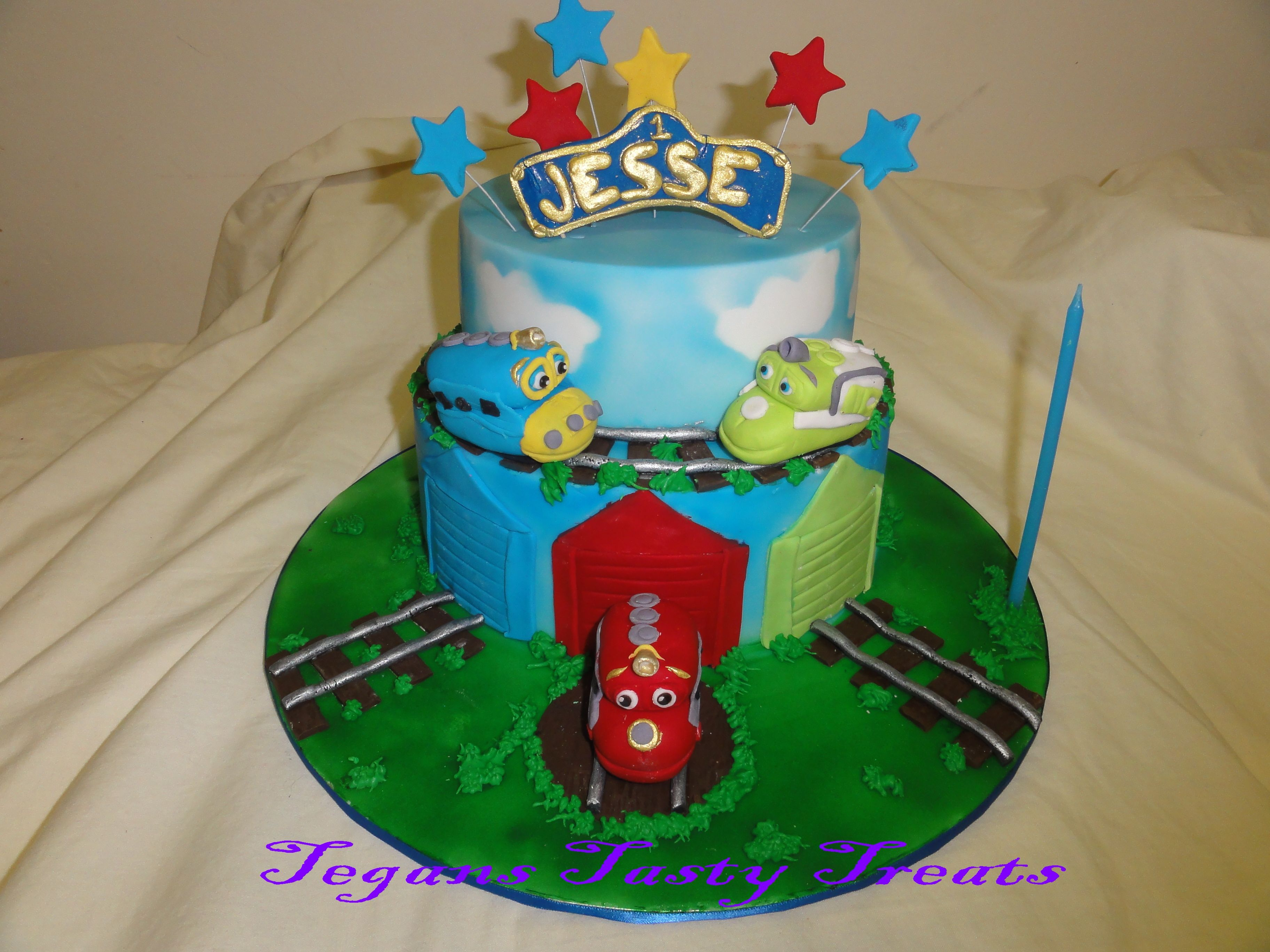 Chuggington cake cakesforkids traincake cakesforboys A 2 tier