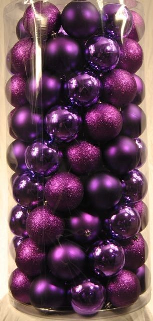 Purple Balls For Decoration 100 Pack Of 70Mm Plastic Purple Balls  Products