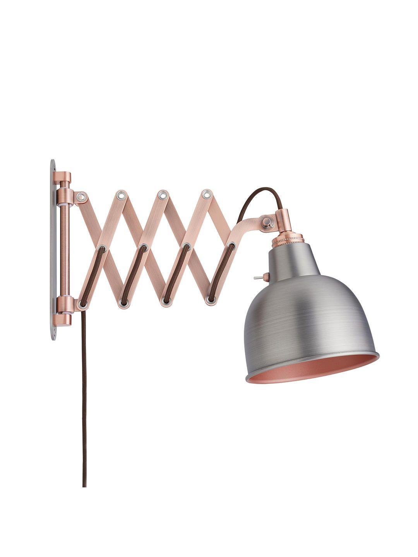 John Lewis Partners Baldwin Extending Wall Light Pewter Copper Extending Wall Light Wall Lights Light