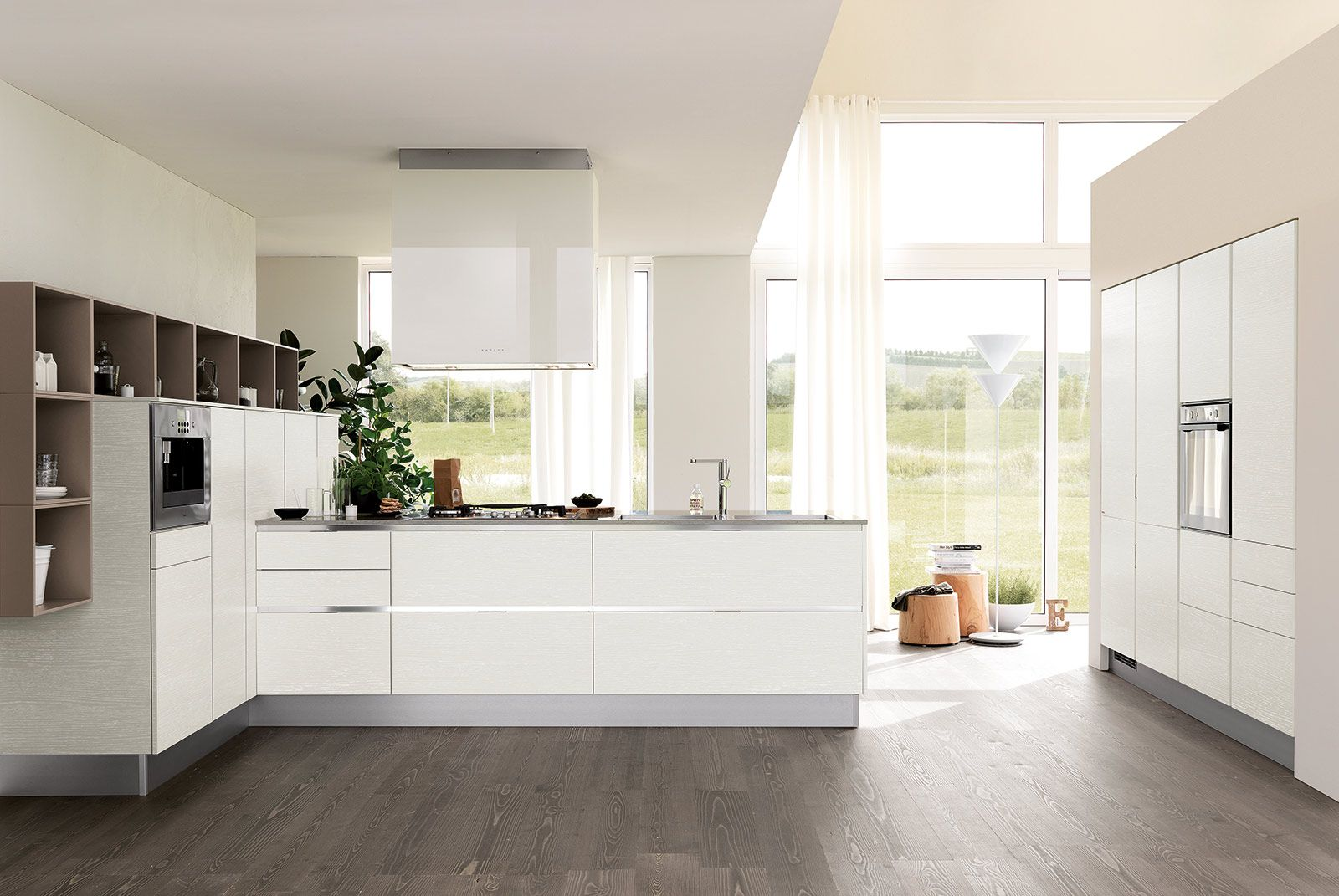 Cucine bianche moderne | Kitchen dining, Design inspiration and Dining