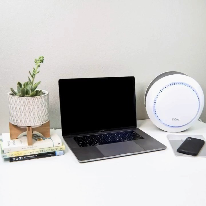 Our PureZone Halo is the perfect air purifier for working