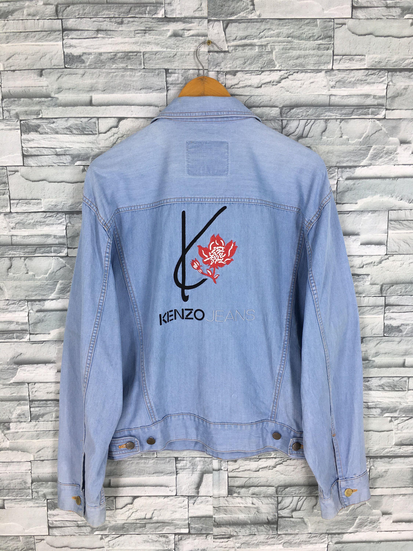 c6edfd5a7 KENZO JEANS PARIS Jeans Jacket Women Large Vintage 90's Kenzo Paris ...