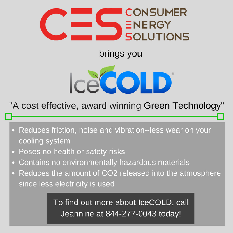 Consumer Energy Solutions Presents Icecold This Product Used In