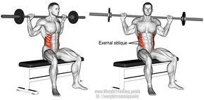 seated barbell twist  workout challenge popular workouts