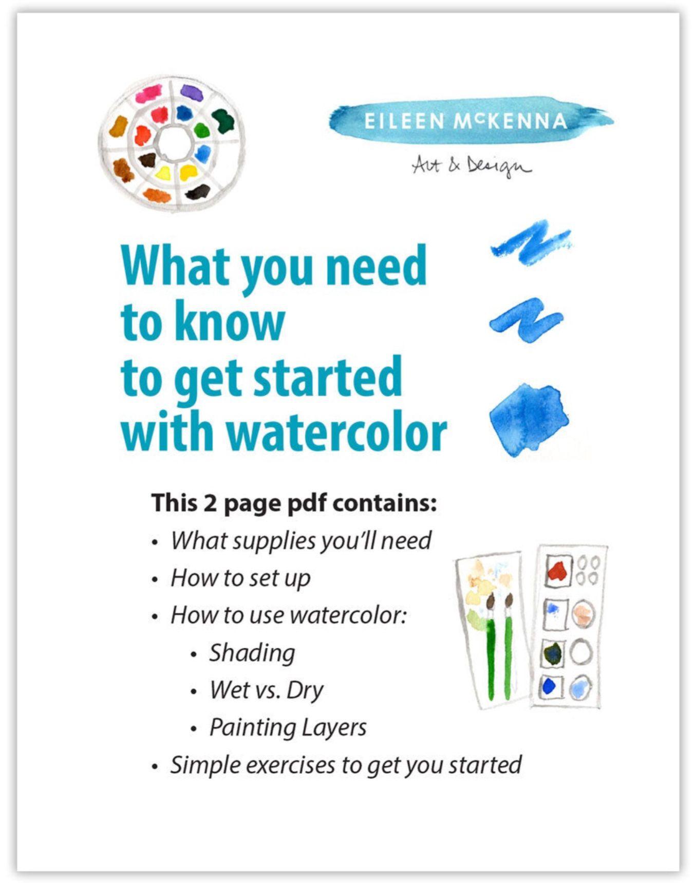 Watercolor Beginner Tutorial Painting Lessons Watercolor