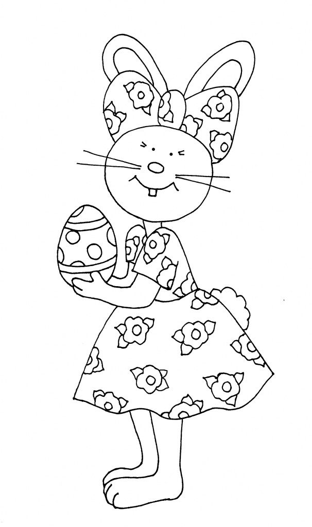 easter-bunny-coloring-page (5) | Crafts and Worksheets for ...