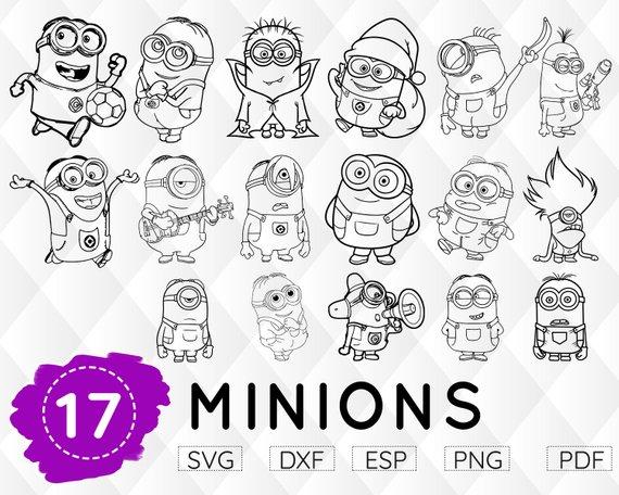 Minion Svg Despicable Me Svg Minion Clipart Minion Birthday Svg Girl Minion Svg Minion Decal M Minion Craft Minion Clipart Minions