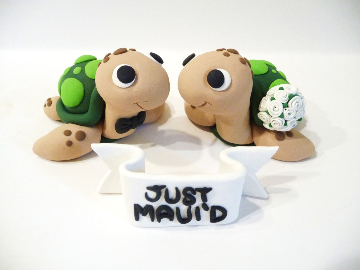 Sea Turtle Wedding Cake Topper With Sign Choose by topofthecake ...