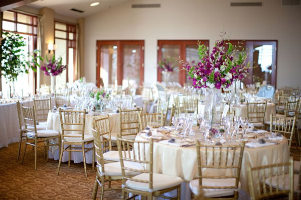 Scottsdale Wedding Troon Country Club Purple Gold Wedding