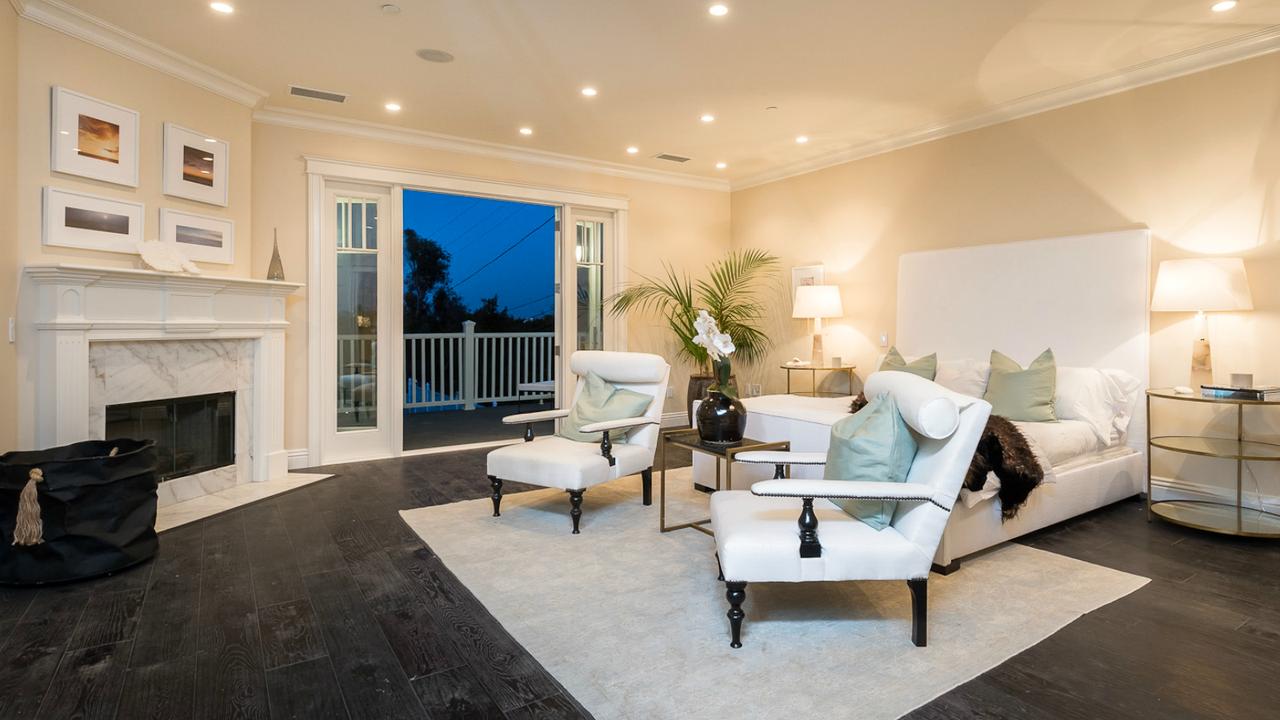 Master bedroom hardwood floors  Magnificent Los Angeles Interior Design by Meridith Baer Home  Dark