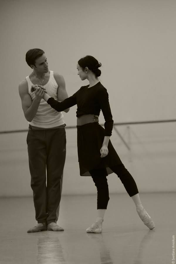 Olesya Novikova and Konstantin Zverev rehearsing Frederick Ashton'sMarguerite and Armand  © Svetlana Avvakum. Ballet Beautiful | ZsaZsa Bellagio - Like No Other