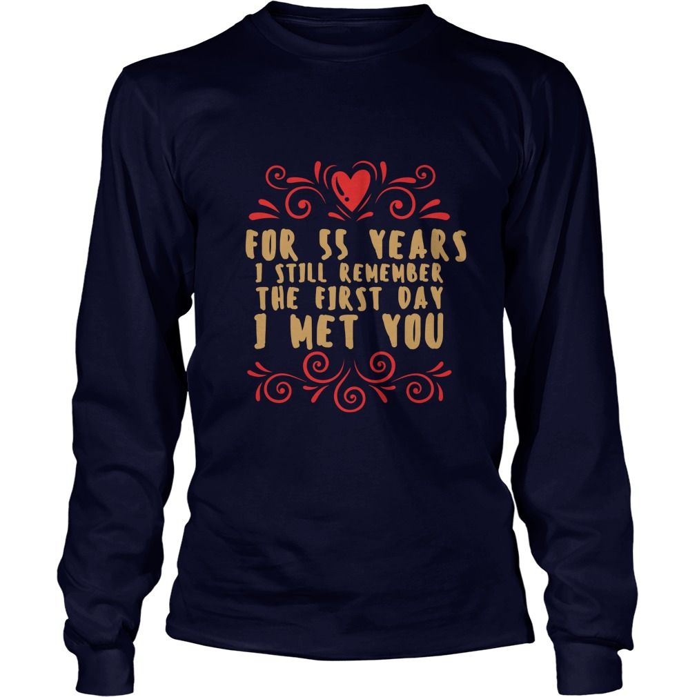 Meaning T Shirt For Husband And Wife 55th Wedding Anniversary Gift